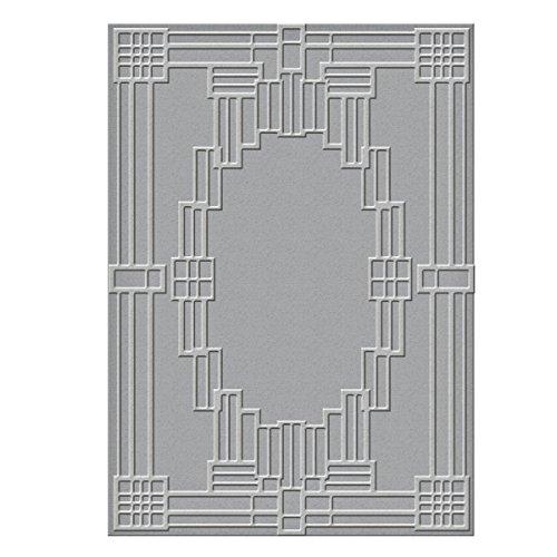 Spellbinders S6-071 Deco Squared Texture Plate by Spellbinders