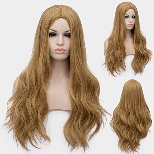 Similar Cosplay Long Wavy Full Synthetic Wigs Fluffy Hair Wig with Cap Halloween -