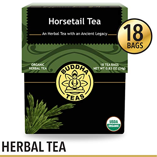 (Organic Horsetail Tea, 18 Bleach-Free Tea Bags - Organic Caffeine Free Tea Optimizes Urinary Tract Health, Supports Hair Growth and Bone Development, Natural Source of Vitamin C and Fiber, No GMOs)