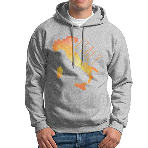 Arsmt Hooded Sweatshirt Male Daily Pullover Fleece Hoodie Golden Italy Map