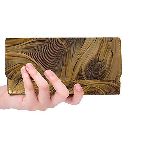 (Unique Custom Paper Art Paper Art Eddy Yellow Women Trifold Wallet Long Purse Credit Card Holder Case Handbag)