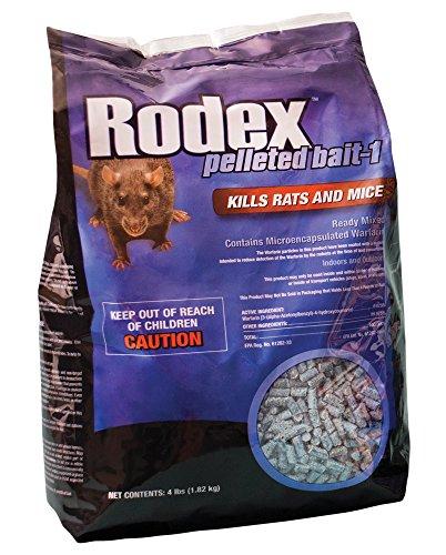 Rodex Warfarin 116348 Rodenticide Bait, Brown/A