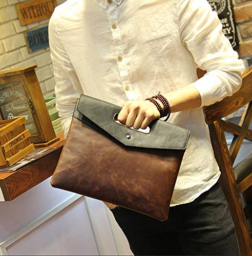 Large Brown Carrier Brown Men For Holder Portfolio Business Bag Capacity Messenger Card Fuxitoggo color Fashionable nbsp;envelope dvZd6