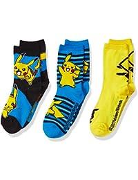 Pokemon Little Boys' 3 Pack Crew Socks