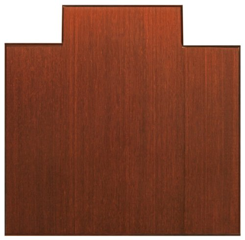 Anji Mountain Bamboo Chairmat & Rug Co. Tri-Fold Bamboo Chairmat, 47-Inch-by-51-Inch, 12mm Thick, With Lip, Dark Cherry by Anji Mountain