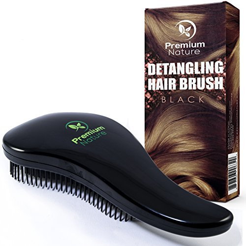 Detangling Hair Brush Best Detangler Comb No Pain Detangler Brush For Curly Wavy Thick Or Thin Hair Black Purple And Combo Set Premium Nature