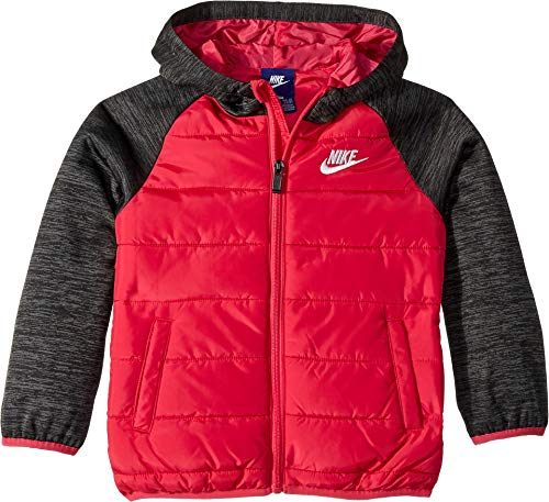 (NIKE Kids Girl's Therma Fleece Quilted Jacket (Little Kids) Rush Pink 6)