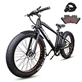 NAKTO 26' 300W Fat Tire Electric Bicycle Shimano 6-Speed-Gear Mountain...