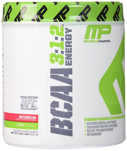 Muscle Pharm BCAA Energy Powder, Watermelon, 0.51 Pound