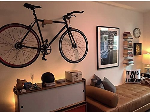 Play-Haus Design Walnut and Steel Indoor Bicycle Wall Mount Hanger Rack 2'' by Play-Haus Design (Image #6)