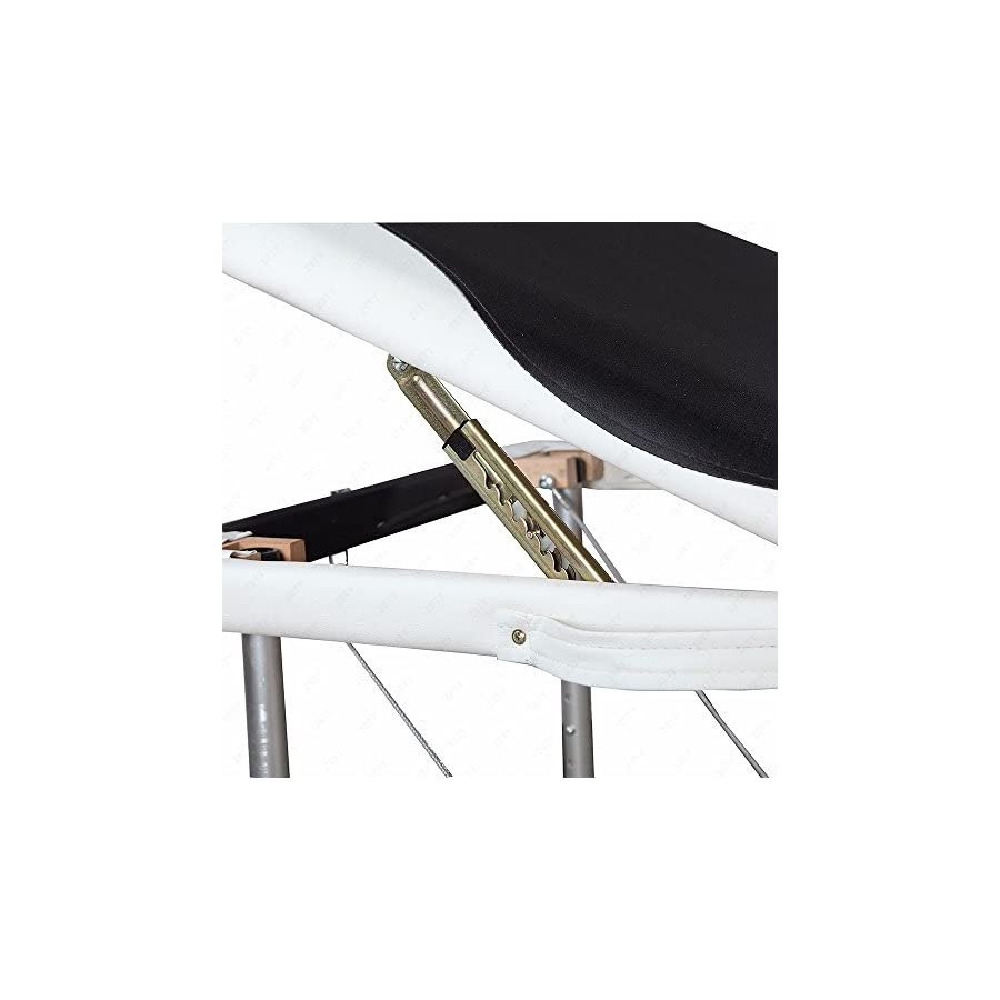 """Massage Aluminum Table Portable Facial Bed 84""""L 3 Fold W/ Sheet Bolsters Carry Strong heavy"""