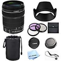 Canon EF-S 18-135mm F/3.5-5.6 IS STM Lens Premium Bundle (White Box)