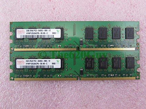 (Hynix HYMP125U64CP8-S6 4GB 2 x 2GB PC2-6400U DDR2 800 Non-ECC Unbuff Memory Kit)