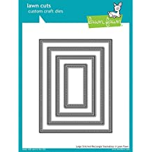 Lawn Fawn Large Stitched Rectangle Stackable Die Set
