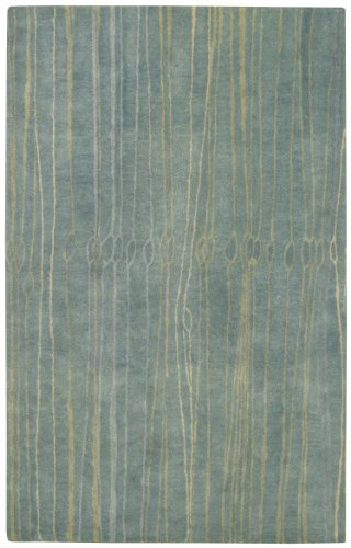 Capel Rugs Fingerling Rectangle Hand Tufted Area Rug, 8 x 10', China Blue