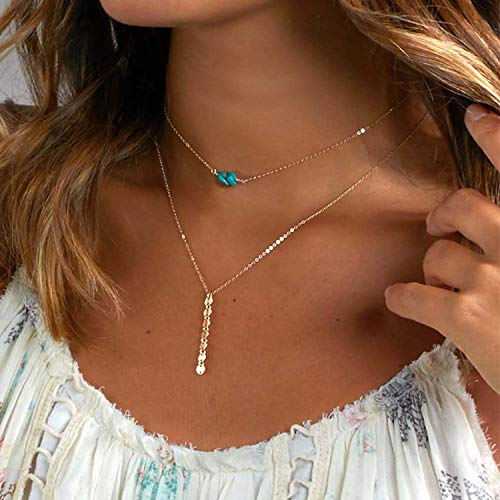 New Boho Multi Women Bar Beads Stone Charm Choker Necklace Chocker Jewelry Collana Bijoux Femme Joyas Mujer Collier Gold]()