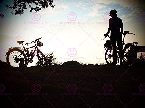 SPORT MOUNTAIN BIKE SILHOUETTE BICYCLES CYCLIST 18X24'' POSTER ART PRINT LV11178 by Doppelganger33LTD