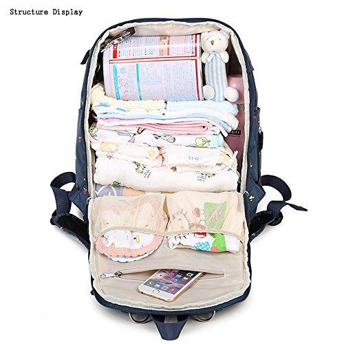 Global- 30 * 21 * 41cm de nylon impermeable de gran capacidad paquete de la momia, mujeres embarazadas multifunción Salir mochila, Moda extraña de viaje esencial multifunción mochila