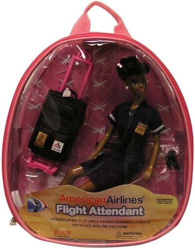 DARON WORLDWIDE American Airlines Flight Attendant Doll (AFRICAN AMERICAN)
