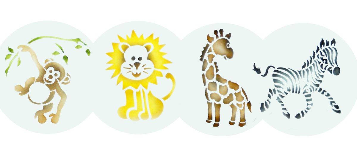 Designer Stencils C787 Jungle Animals Cookie, Beige/Semi-Transparent by Designer Stencils (Image #2)