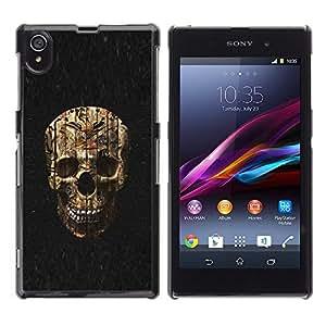 Paccase / SLIM PC / Aliminium Casa Carcasa Funda Case Cover - Skull Evil Halloween Death Metal - Sony Xperia Z1 L39 C6902 C6903 C6906 C6916 C6943