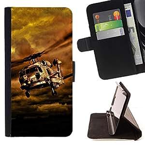 BullDog Case - FOR/Samsung Galaxy S6 / - / Gunship /- Monedero de cuero de la PU Llevar cubierta de la caja con el ID Credit Card Slots Flip funda de cuer
