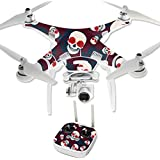 MightySkins Protective Vinyl Skin Decal for DJI Phantom 3 Professional Quadcopter Drone wrap cover sticker skins Skulls N Roses