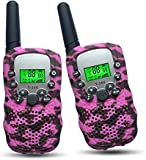 Gifts for 4-8 Year Old Girls Joyfun Walkie Talkies for Kids Girl Toys Pink Camo Long Distance Kids...