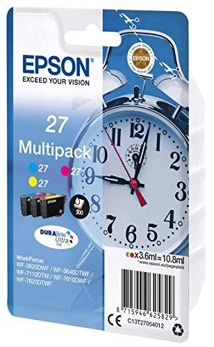 (Epson Alarm Clock No.27 Series Standard Ink Cartridge - Multi-Coloured, Pack of 3)