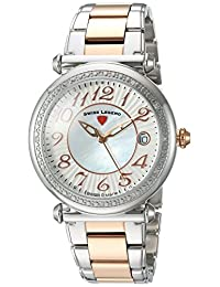 Swiss Legend SL-16330SM-SR-22 Women's Bel Air Quartz Stainless Steel Automatic Wrist Watch, Two Tone