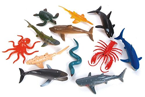 Wilde Tyke Assorted Sea Life Animals Collection, 12 Piece