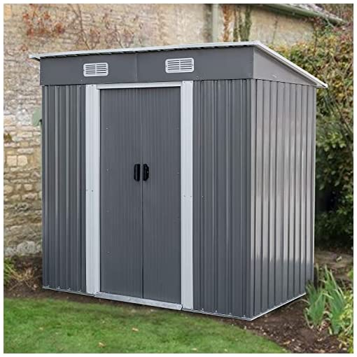 Garden and Outdoor BAHOM Horizontal Outdoor Storage Shed 3.5X6 FT, Lockable Organizer for Garden, Patio, Backyard Tools and Accessories… outdoor storage sheds