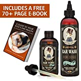 Most Effective Dog Ear Treatment – Mister Bens Ear Care Kit with Aloe for Dogs – This Dog Ear Cleaner Provides Fast Relief from Dog Ear infections, itching, Odors, Bacteria, Mites, Fungus & Yeast
