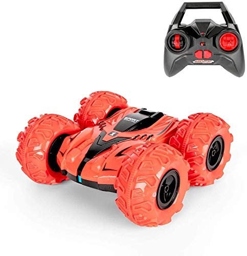 Amphibious RC Stunt Car, 2.4 GHz Remote Control 4WD Crawler Car 360 Degrees Spinning and Flips Racing Double Sides Running Super Big Vehicle Aged 4+ for Kids and Adults