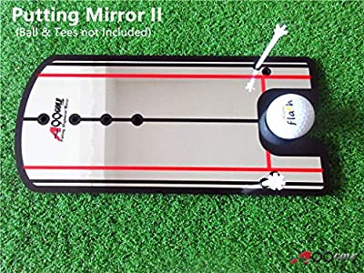 New A99Golf Putting Mirror Training Alignment Aid Practice Trainer w/Pouch Bag