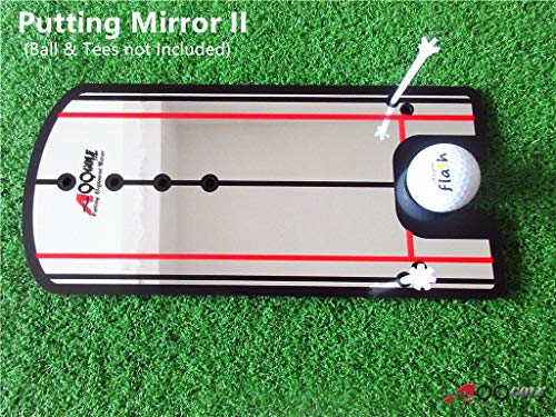 New A99Golf Putting Mirror Training Alignment Aid Practice Trainer w/Pouch Bag -