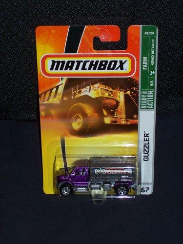 Matchbox 2008 67 Farm Series 4 of 6 Guzzler Purple and Gray Tanker Truck by Mattel ()