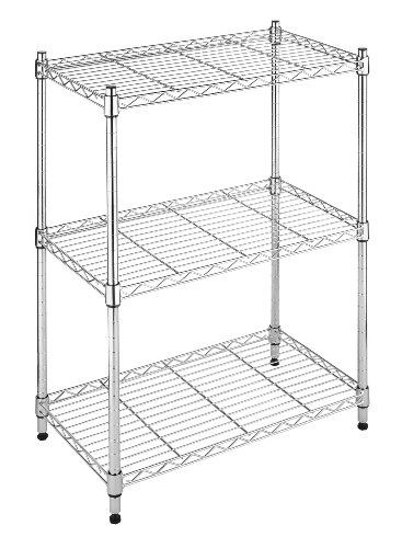 (Whitmor Supreme Small 3 Tier Shelving Adjustable Chrome)
