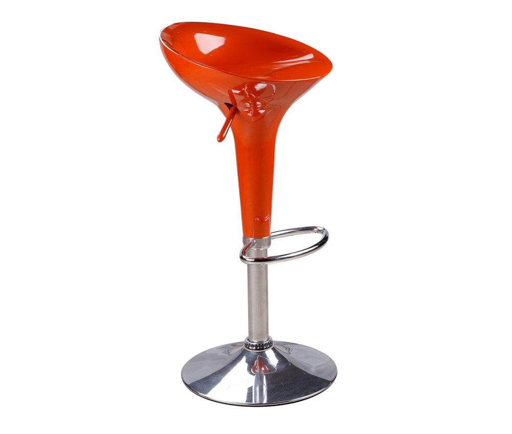GRJH® バースツール、バーアメリカンチェアリフトハイスツール回転カフェカウンターハイバックウッドクリエイティブトールフロントキッチンチェアヨーロッパ高5878cm 安全性,快適 (色 : オレンジ) B07D47WVSH オレンジ オレンジ