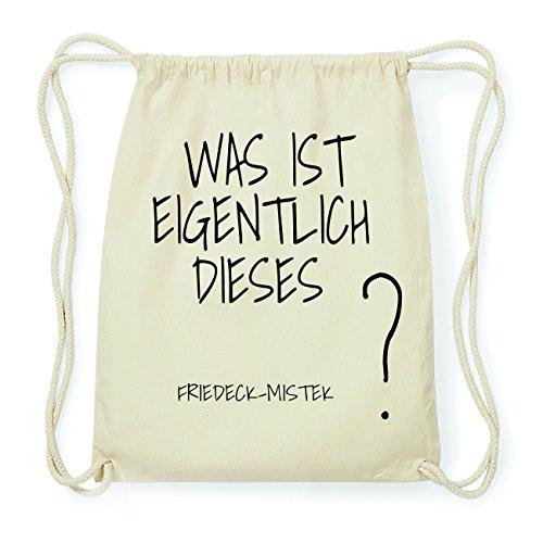 JOllify FRIEDECK-MISTEK Hipster Turnbeutel Tasche Rucksack aus Baumwolle - Farbe: natur Design: Was ist eigentlich