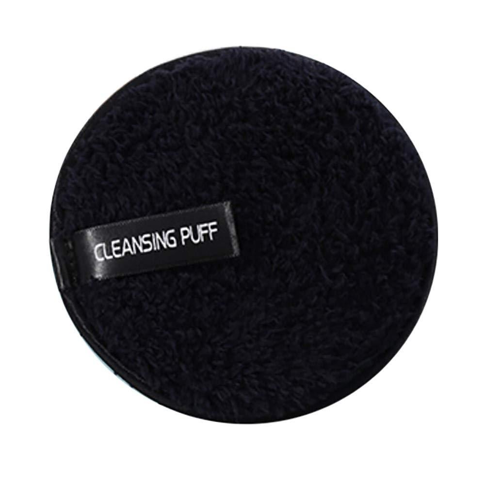 Aviat Reusable Makeup Remover Pads-Microfiber Cloth Pads Remover Towel Face Cleansing Makeup (Black)