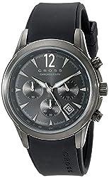 Cross Men's CR8011-05 Agency Analog Display Japanese Quartz Black Watch