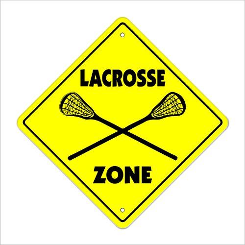 Lacrosse Crossing Sign Zone Xing | Indoor/Outdoor | 12