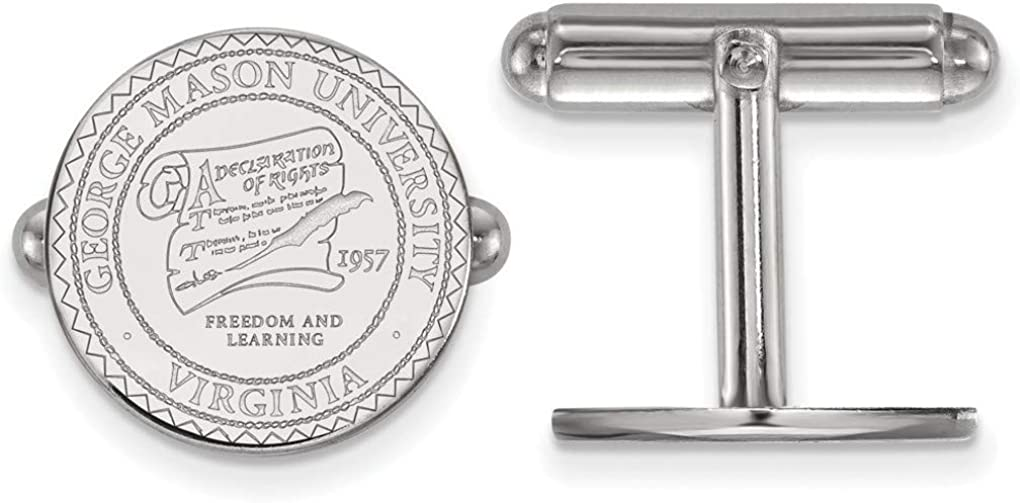 Sterling Silver George Mason University Crest Cuff Links by LogoArt