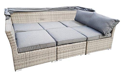 Gartenmobel Outlet Bornheim :  Sofas Strandkorb Lounge Palma Cabrio Sofa Alu Geflecht 5tlg grey