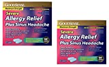 GoodSense Severe Allergy Relief + Sinus Headache, 20 Caplets - 2 Pack (40 Total), Compare to Benadryl Severe Allergy Plus Sinus Headache
