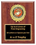 Marines Plaque Awards 7x9 Wood Soldier Trophies Military Trophy Free Engraving