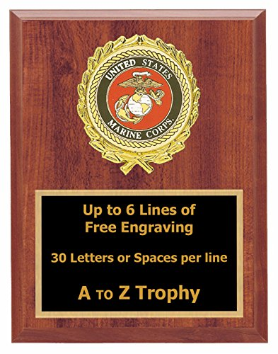 Military Award Plaques (Marines Plaque Awards 7x9 Wood Soldier Trophies Military Trophy Free)