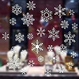 クリスマス 静電ステッカー 窓用ステッカー クリスマス 飾り 雪花の図案の静電ステッカー ウォールステッカー クリスマスの窓飾り用に  (086)