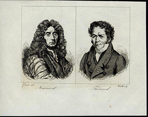 Mignard Thenard 1835 scarce antique portrait print ()